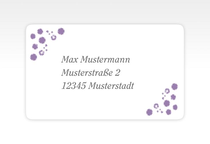 """Empfängeretikett Hochzeit """"Triest"""" 63,5 x 38,1 mm lila"""
