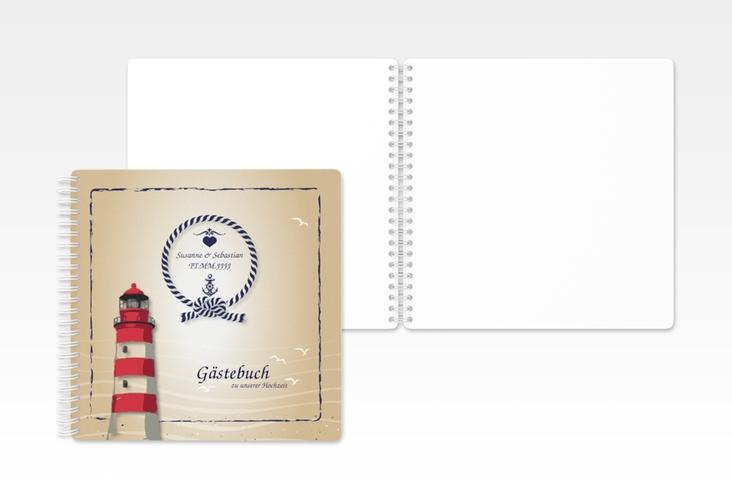 "Gästebuch Hochzeit ""Sylt"" Ringbindung"