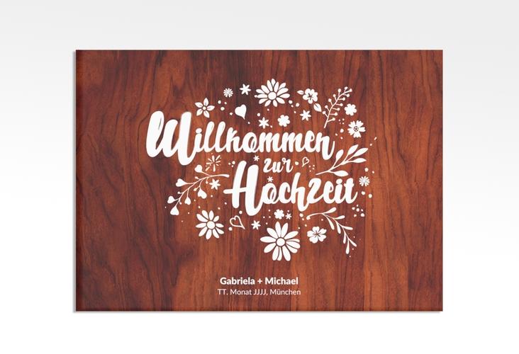 """Willkommensschild Leinwand """"Buttercup"""" 70 x 50 cm Leinwand"""