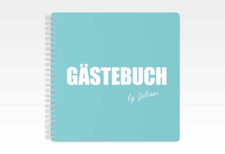 "Gästebuch Geburtstag ""Zig"" Ringbindung tuerkis"