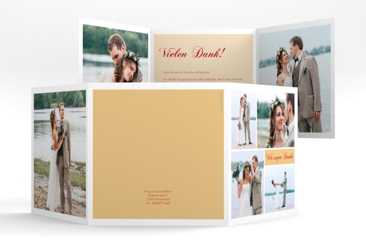 "Dankeskarte Hochzeit ""Collage"" Quadr. Karte doppelt"