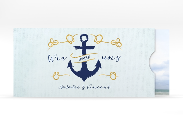 """Hochzeitseinladung """"Anker"""" Einsteckkarte"""