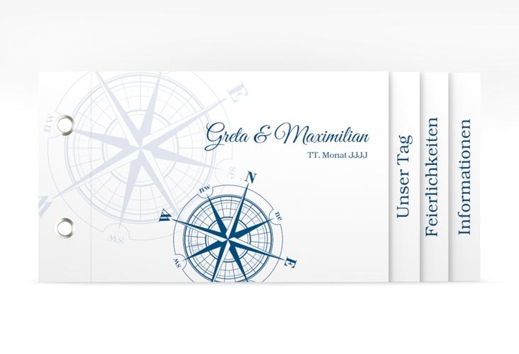 """Hochzeitseinladung """"Windrose"""" Booklet"""