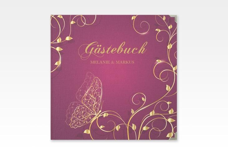 """Gästebuch Selection Hochzeit """"Eternity"""" Leinen-Hardcover pink"""