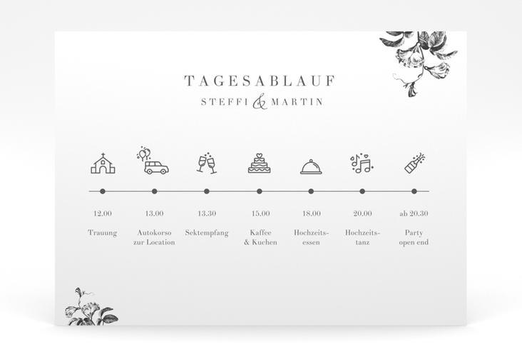 """Tagesablauf Poster Hochzeit """"Magnificent"""" 70 x 50 cm Poster schwarz"""