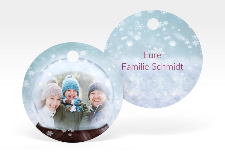"""Geschenkanhänger Weihnachten """"Schneekugel"""" Geschenkanhänger, rund"""
