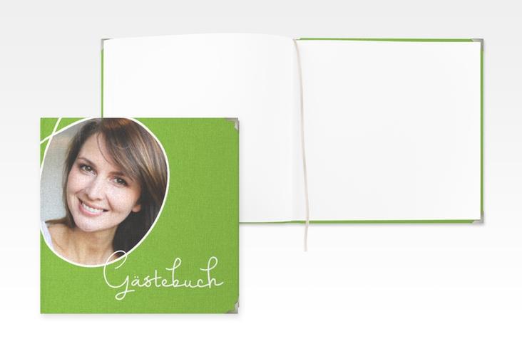 "Gästebuch Selection Geburtstag ""Swing"" Leinen-Hardcover gruen"