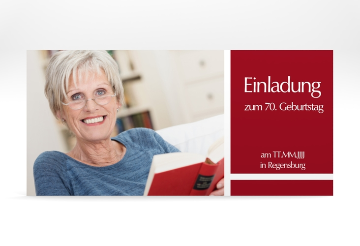 "Einladungskarte ""Gerd/Gerda"" DIN lang"
