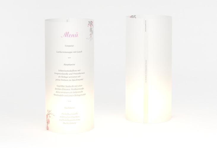 """Windlicht Menü Hochzeit """"Salerno"""" Windlicht rosa"""
