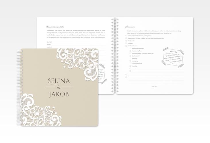 """Trautagebuch Hochzeit """"Vintage"""" Trautagebuch Hochzeit beige"""