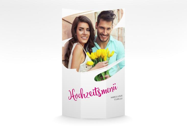 """Menükarte Hochzeit """"Felice"""" DIN A4 Wickelfalz"""
