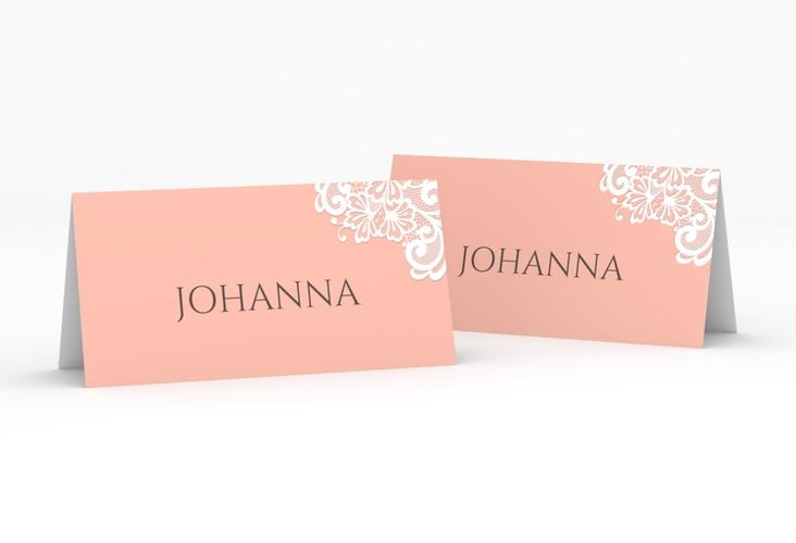 """Tischkarte Hochzeit """"Vintage"""" Tischkarten apricot"""