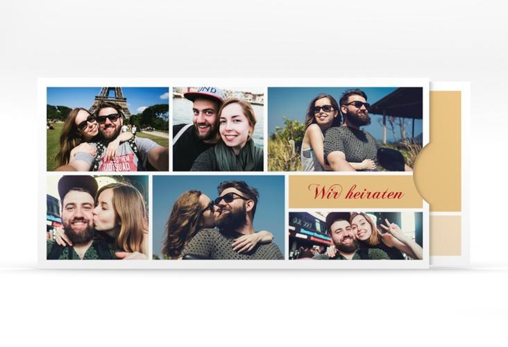 """Hochzeitseinladung """"Collage"""" Einsteckkarte"""