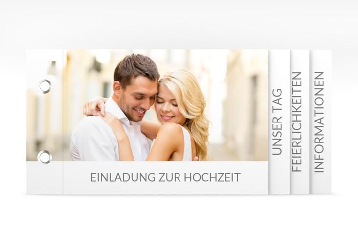 """Hochzeitseinladung """"Vista"""" Booklet weiss"""