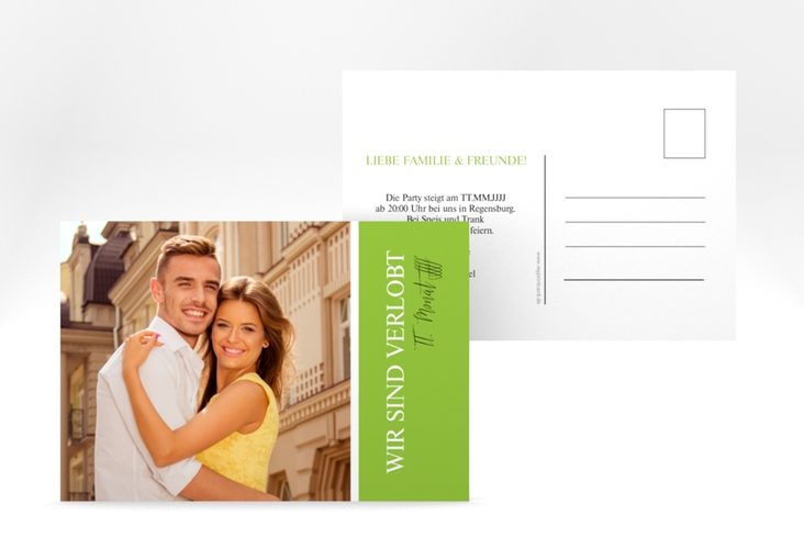 """Verlobungskarte """"Classic"""" A6 Postkarte"""