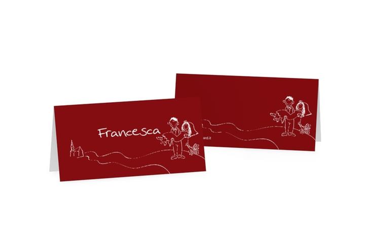 Segnaposti matrimonio collezione Pisa Tischkarten rosso