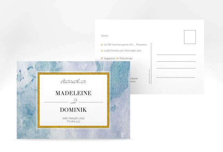 """Antwortkarte Hochzeit """"Marble"""" A6 Postkarte"""