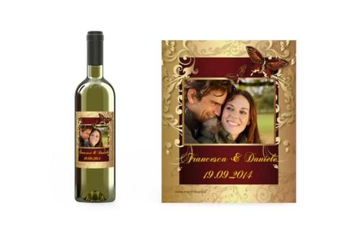 Etichette vino matrimonio collezione Tolosa Etikett Weinflasche 4er Set
