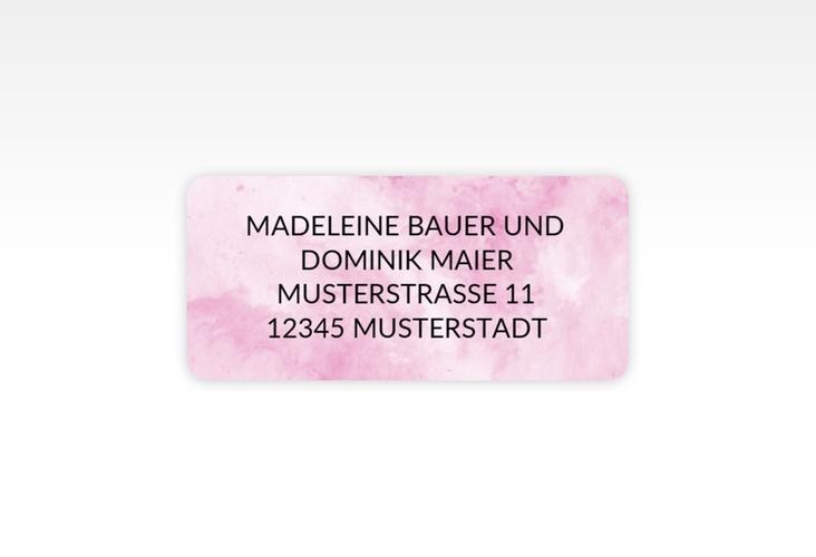 """Absenderetikett Hochzeit """"Marble"""" 45,7 x 21,2 mm rosa"""