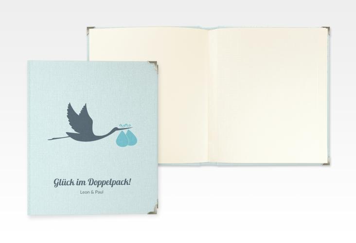 """Baby Fotoalbum """"Doppelpack"""" 21 x 25 cm blau"""