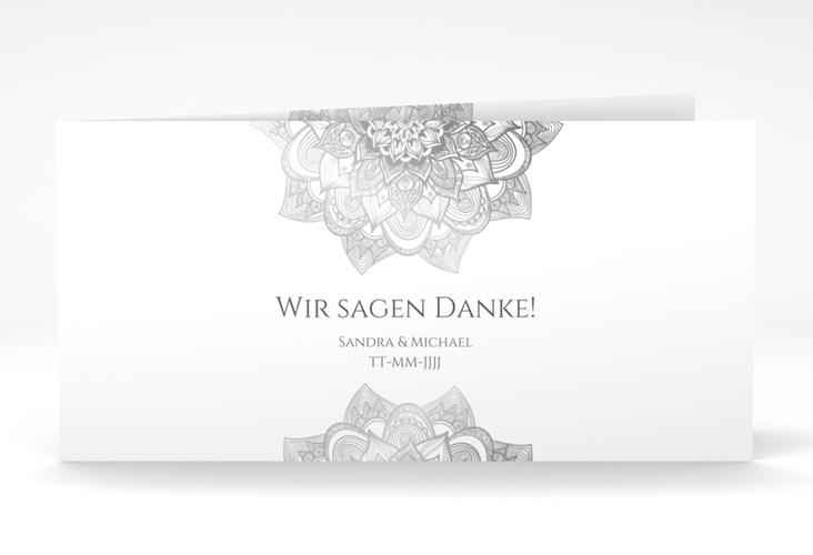 "Danksagungskarte Hochzeit ""Delight"" DIN lang Klappkarte grau"