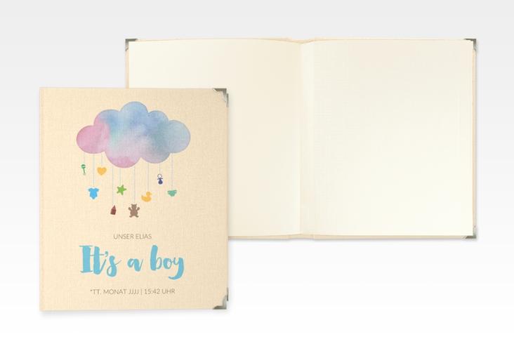 """Baby Fotoalbum """"Mobile"""" 21 x 25 cm blau"""