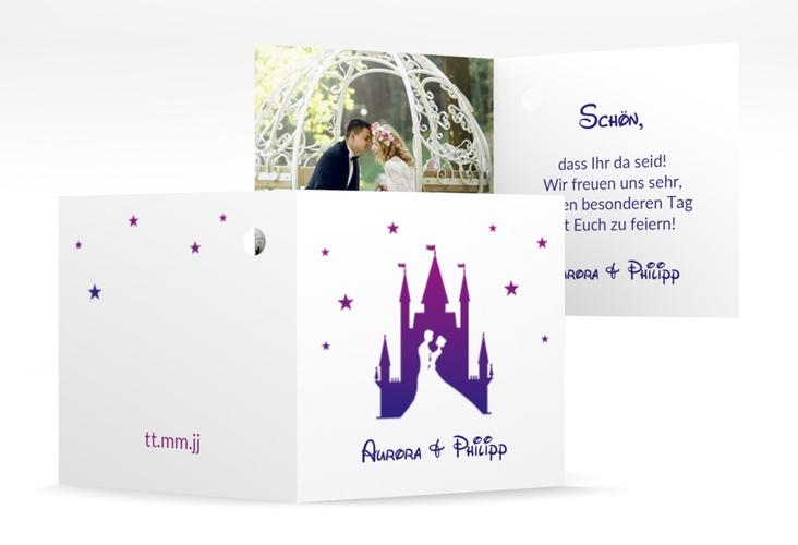 "Geschenkanhänger Hochzeit ""Castle"" Geschenkanhänger 10er Set lila"