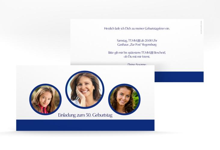 """Einladungskarte """"Anton/Antonia"""" DIN lang"""