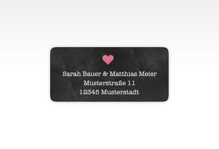 """Absenderetikett Hochzeit """"Sparkly"""" 45,7 x 21,2 mm pink"""