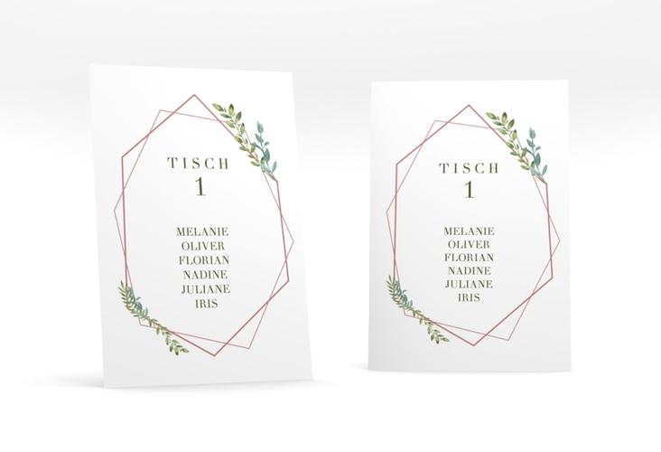 """Tischaufsteller Hochzeit """"Herbarium"""" Tischaufsteller rosa"""
