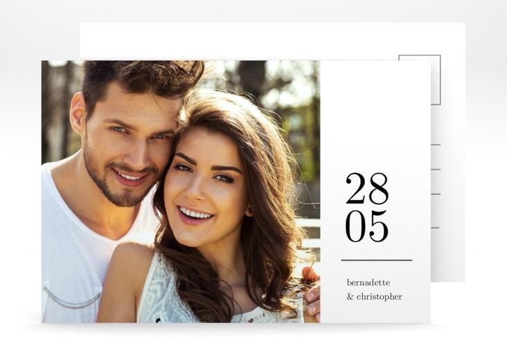 """Save the Date-Postkarte """"Minimal"""" A6 Postkarte"""