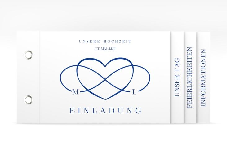 """Hochzeitseinladung """"Infinity"""" Booklet"""
