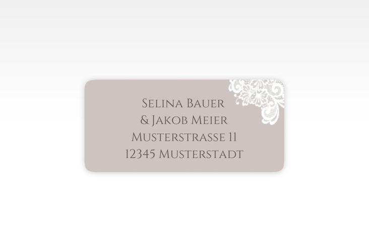 """Absenderetikett Hochzeit """"Vintage"""" 45,7 x 21,2 mm grau"""