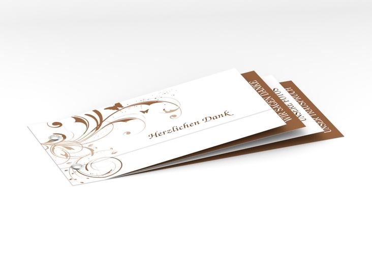 """Danksagungskarte Hochzeit """"Palma"""" Booklet"""