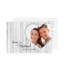 """Save the Date-Postkarte """"Herz"""""""