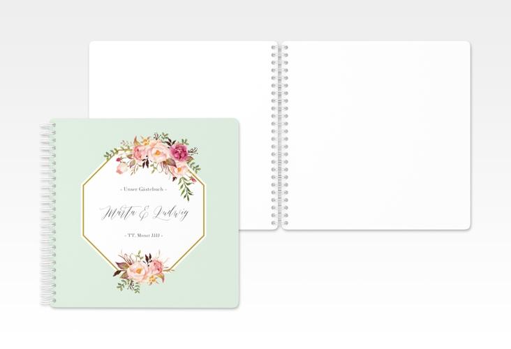 "Gästebuch Hochzeit ""Prachtvoll"" Ringbindung mint"