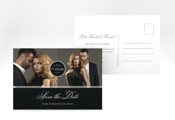"Save the Date-Postkarte ""Elegancy"" A6 Postkarte"