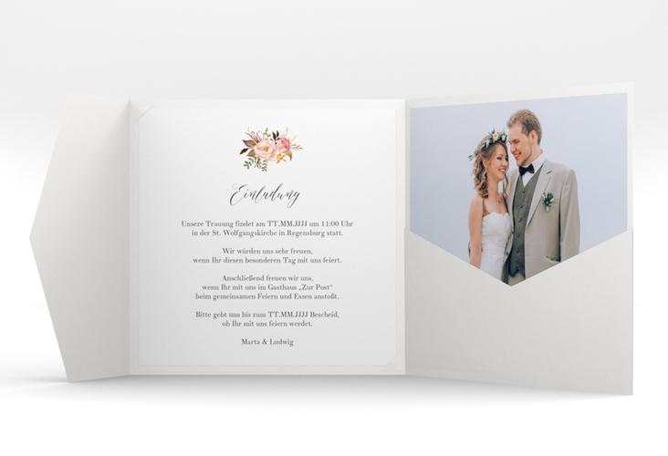 """Hochzeitseinladung """"Prachtvoll"""" Pocketfold mint"""