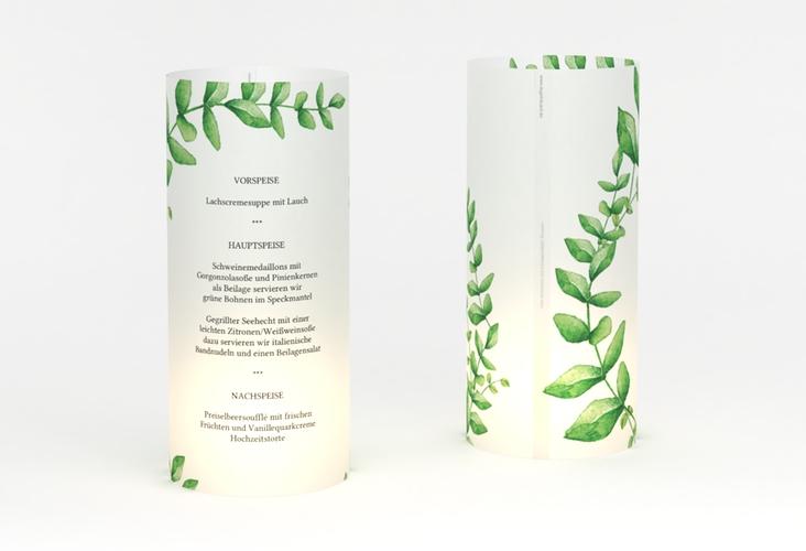 """Windlicht Menü Hochzeit """"Botanic"""" Windlicht weiss"""