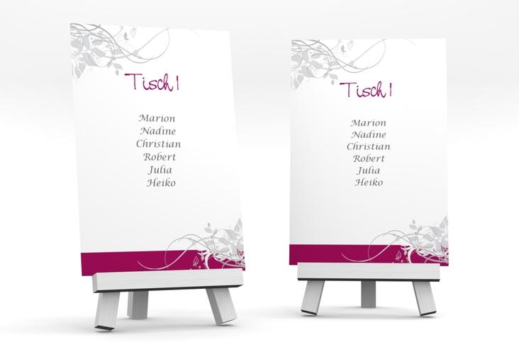 """Tischaufsteller Hochzeit """"Florenz"""" Tischaufsteller pink"""