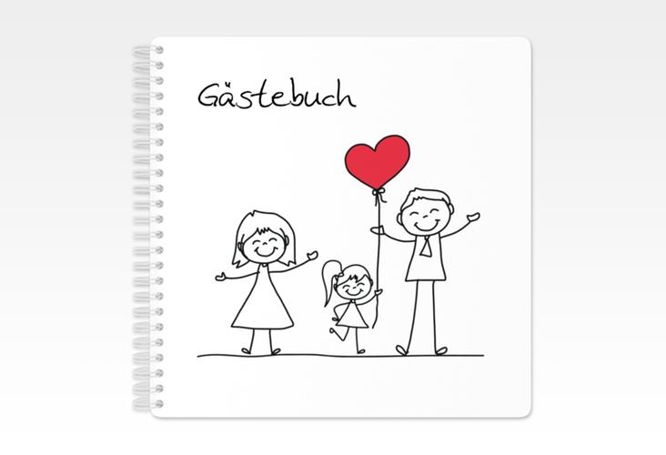 "Gästebuch Hochzeit ""Familia"" Ringbindung"