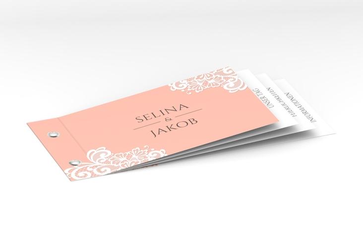 """Hochzeitseinladung """"Vintage"""" Booklet apricot"""