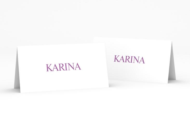 """Tischkarte Hochzeit """"Balance"""" Tischkarten lila"""
