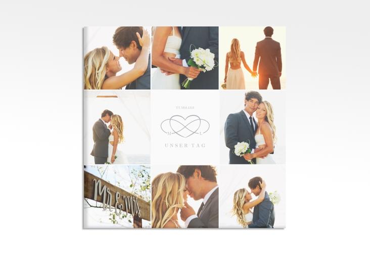 "Hochzeitscollage Leinwand ""Infinity"" 30 x 30 cm Leinwand grau"