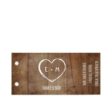 """Danksagungskarte Hochzeit """"Wood"""""""