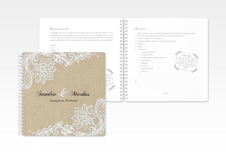 """Trautagebuch Hochzeit """"Lace"""" Trautagebuch Hochzeit beige"""