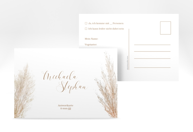 "Antwortkarte ""Pampasgras"" A6 Postkarte"