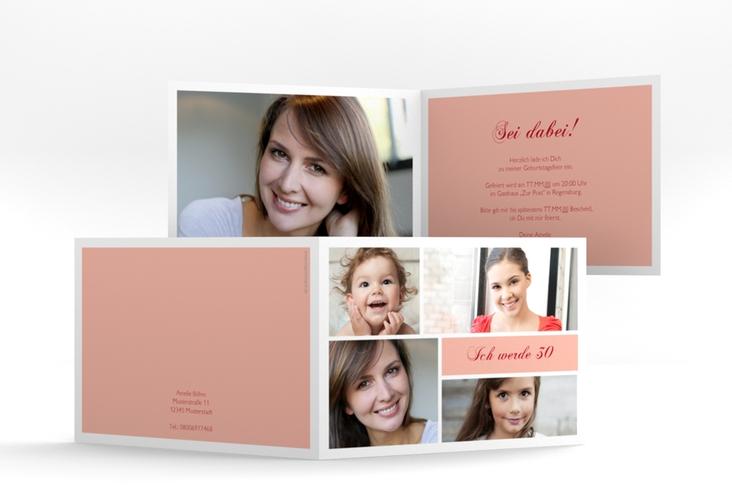"""Einladungskarte """"Bilderserie"""" A6 Klappkarte Quer"""