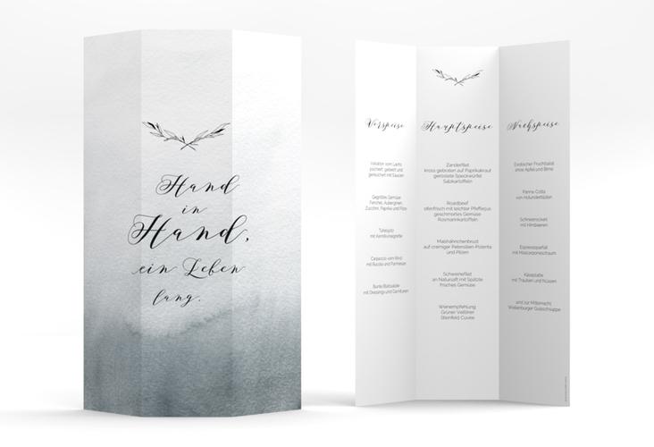 """Menükarte Hochzeit """"Divine"""" DIN A4 Wickelfalz"""