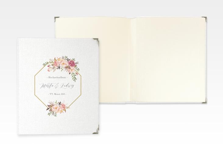 """Hochzeitsalbum """"Prachtvoll"""" 21 x 25 cm weiss"""